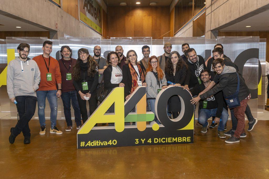Participantes de la zona Retos del congreso sobre 3D ADITIVA40