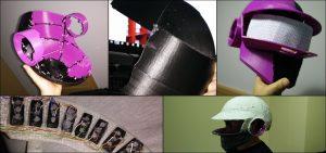 Primeros pasos de desarrollo de un proyecto de casco impreso en 3D con luces led incorporadas realizado por Jose Angel Castaño