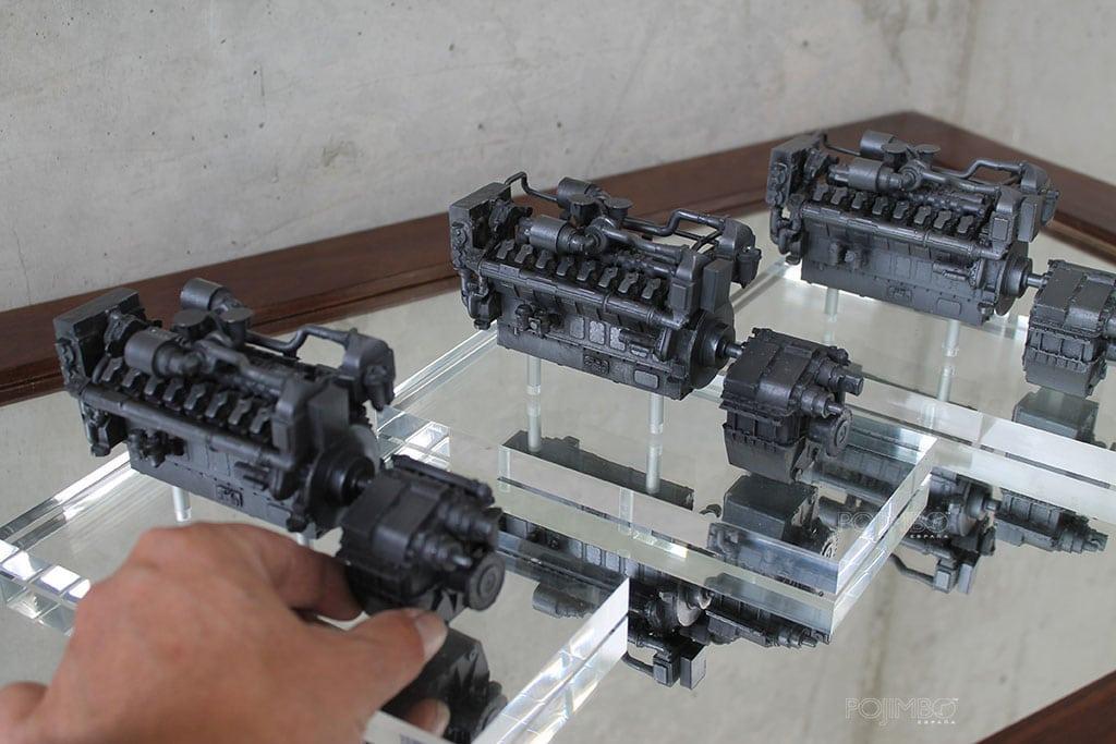 maquetas de motores Guascor- Siemens
